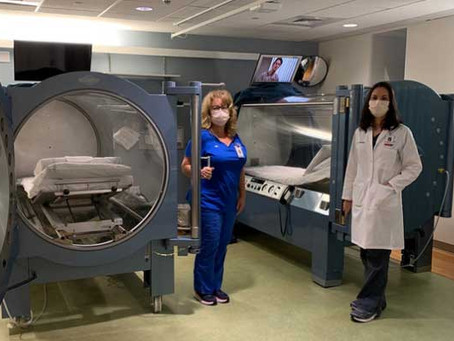 Connecticut coronavirus update: Greenwich Hospital using hyperbaric oxygen therapy to treat COVID