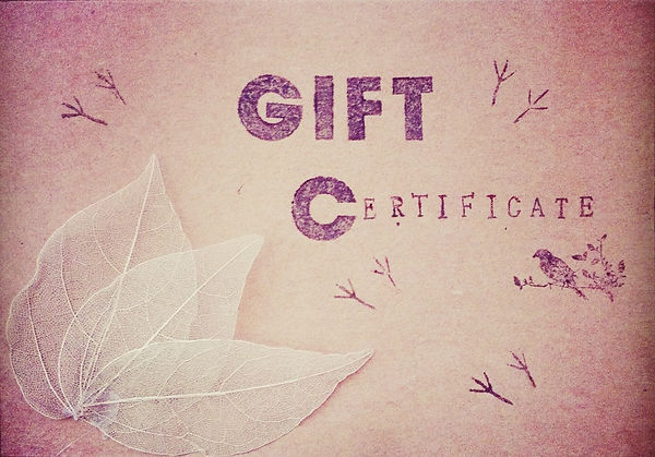 Free Handmade and Personalised Gift Certificate.