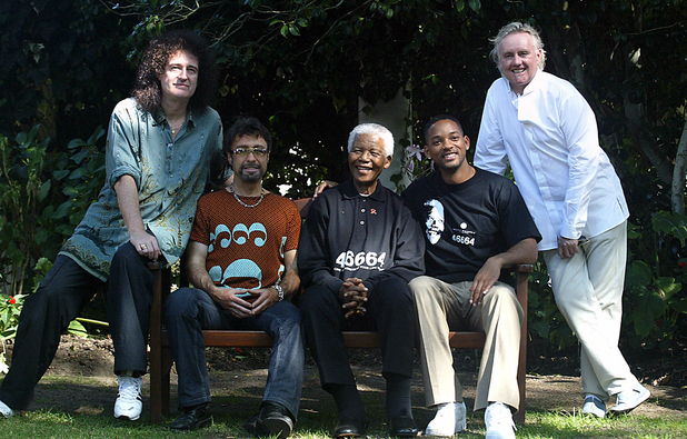 Brian May, Paul Rodgers, Will Smith og Roger Taylor.jpg