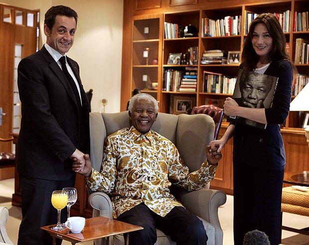 French President Nicolas Sarkozy og Carla Bruni-Sarkozy
