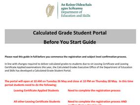 Calculated Grades - Student Portal