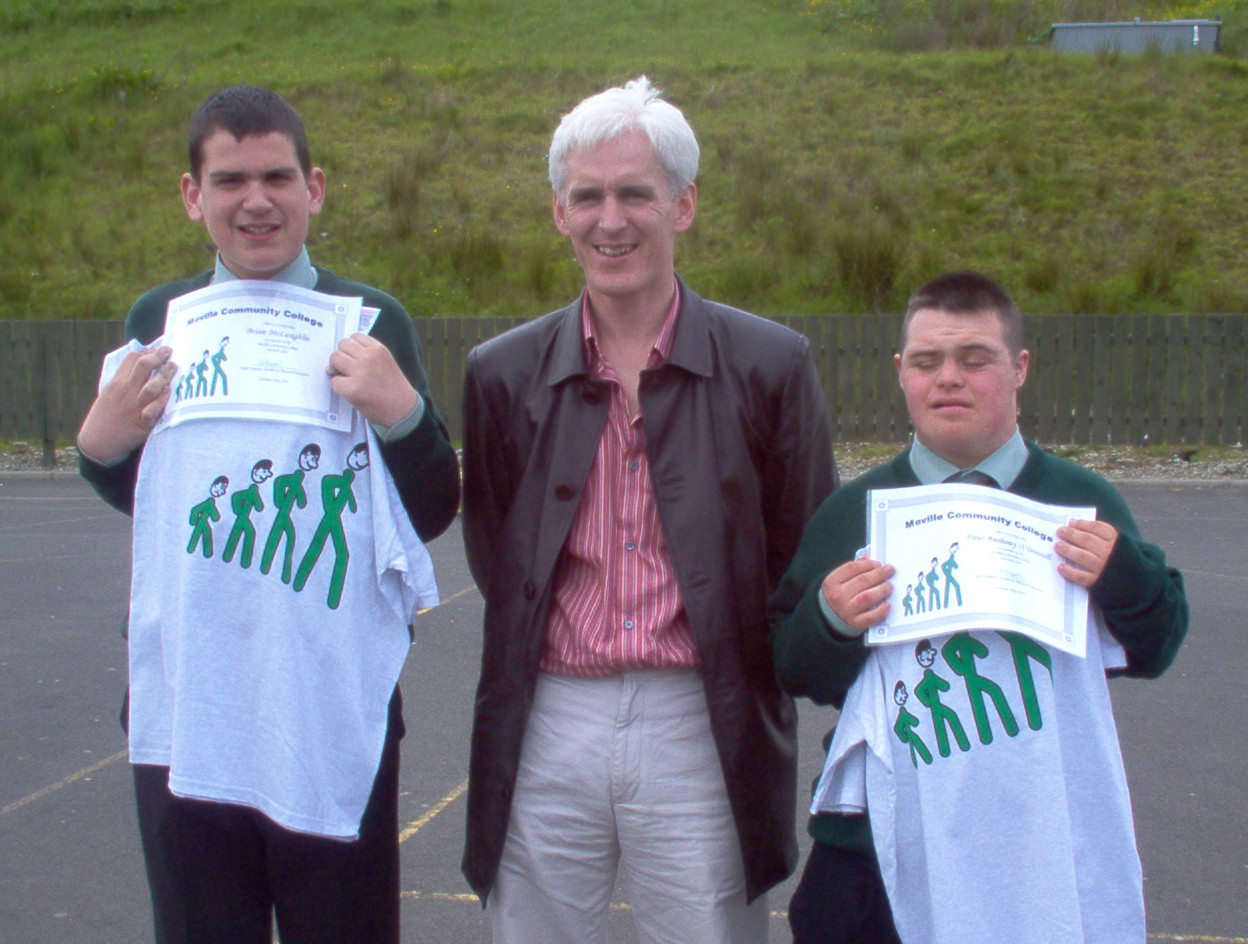 Paul A And Brian with their 100 mile club