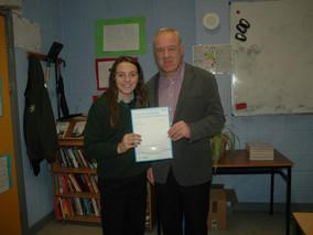 Ellen Hegarty receives GCSE