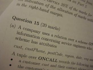 'Mock' Examination Timetables