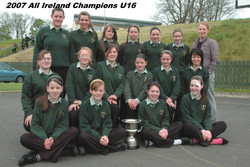 Ms Mulhall & her team the day after win