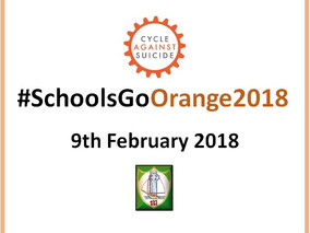Moville Community College goes orange for Cycle Against Suicide 9th February