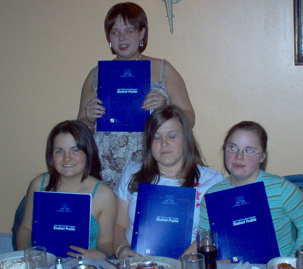 The Girls Enjoyin the presentation May 2005