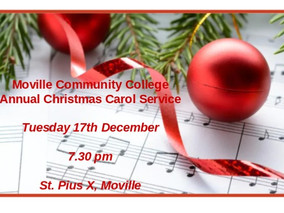 Moville Community College - Carol Service - 17th December