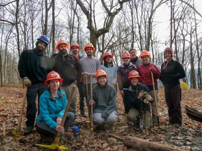 Volunteers Reroute Appalachian Trail at Turkey Pen Gap