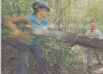 "Knoxville News Sentinel: ""Trail stewards clear the way in national forests"""