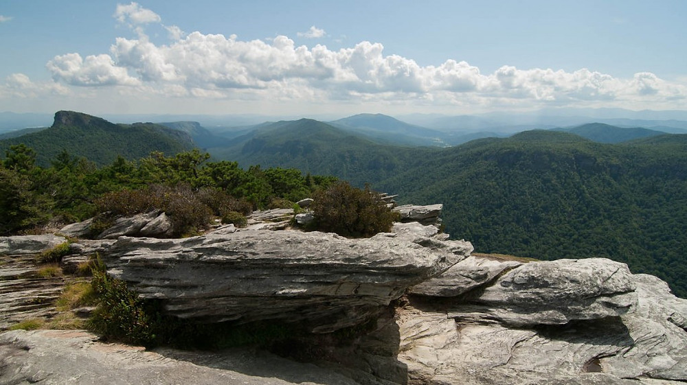 A view of Linville Gorge Wilderness from Hawksbill Mountain, one of only three Wilderness areas designated in the entire eastern United States when the 1964 Wilderness Act was passed.