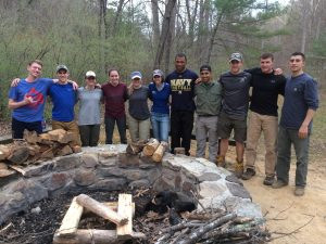 Naval Academy Midshipmen join SAWS staff for training weekend