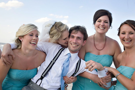Fun wedding photographs by Inga Finch Photography by St Augustine Wedding Photographer.
