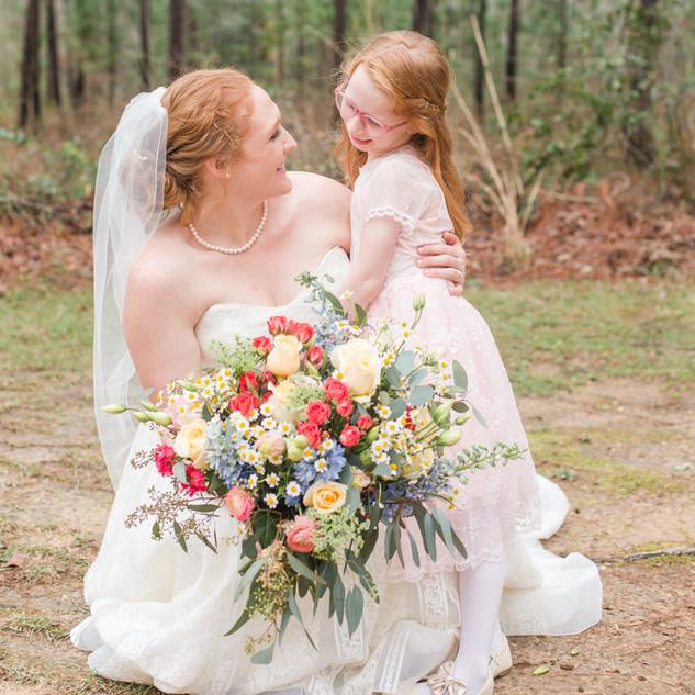 Brides bouquet colorful