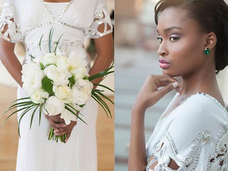 Elegant bridal portrait at Biltmore Ballroom of Atlanta by Inga Finch Photography