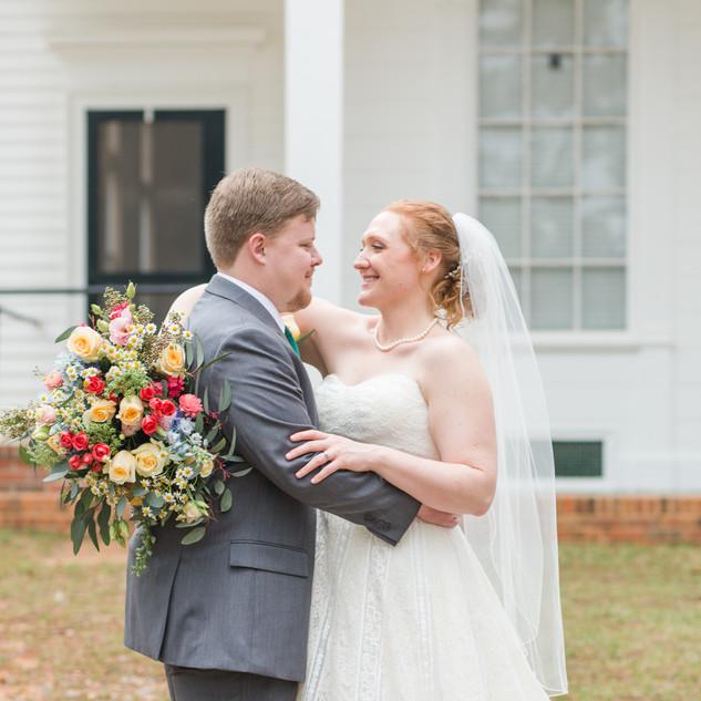 Colorful brides bouquet Wedding flowers thomasville ga