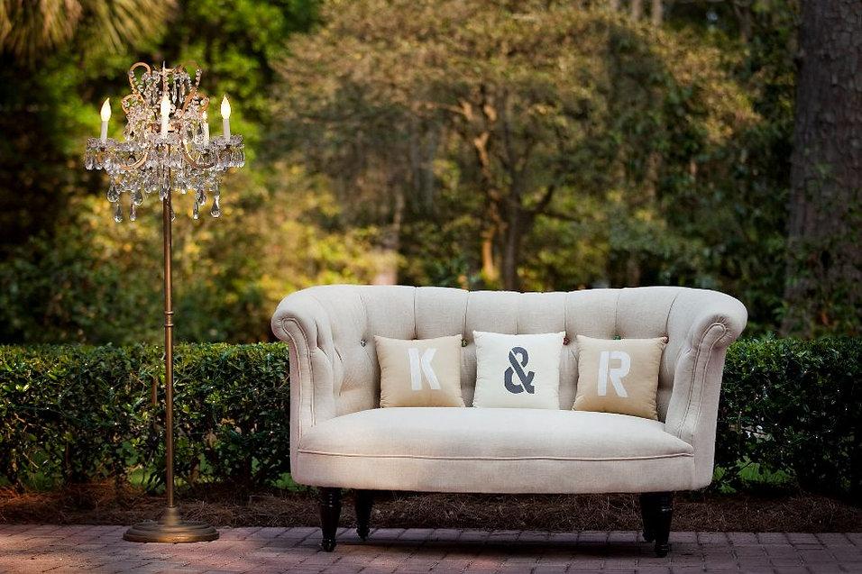 sofa setting tallahassee wedding decor rental