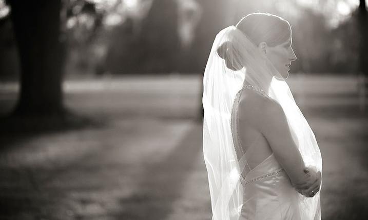Glowing Veil Wedding Portrait by Inga Finch Photography