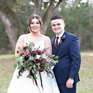bride and groom tallahassee wedding flor