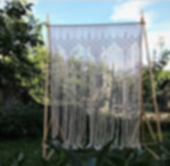 macrame curtain tallahassee wedding flor