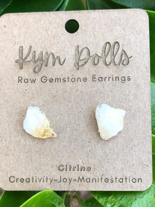 Raw Citine Earrings
