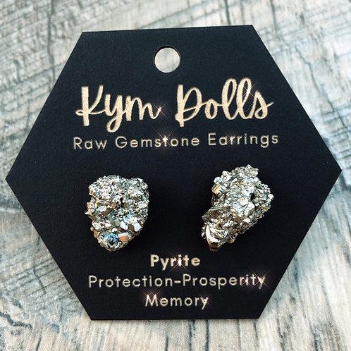 Pyrite Raw Gemstone Earrings