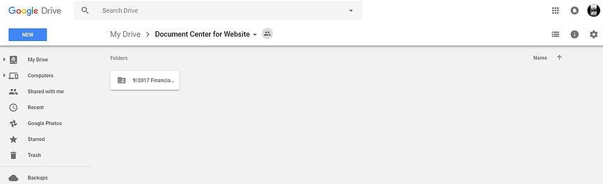 Google Doc Example