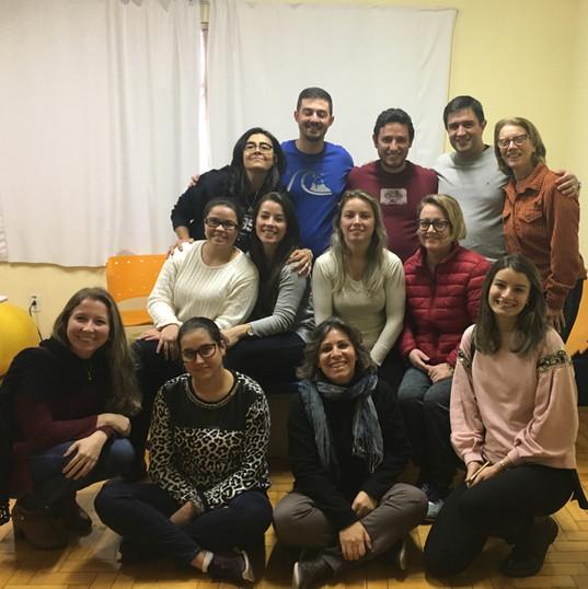 Aula de Neurofisiologia para a turma de Formação no Conceito Bobath Adulto em Porto Alegre/RS