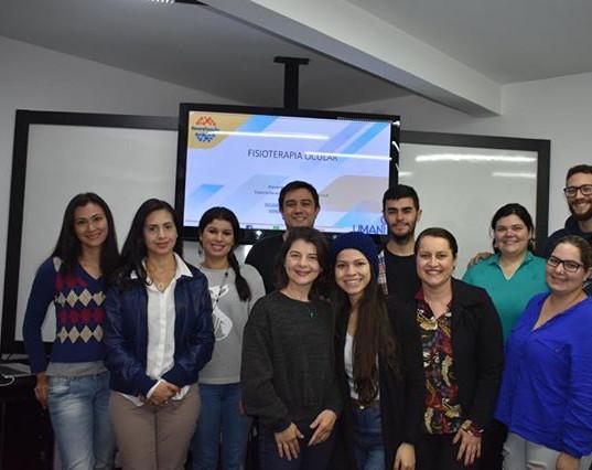 Primeira turma do curso de extensão em Fisioterapia Ocular da Faculdade Inspirar, Curitiba/PR.