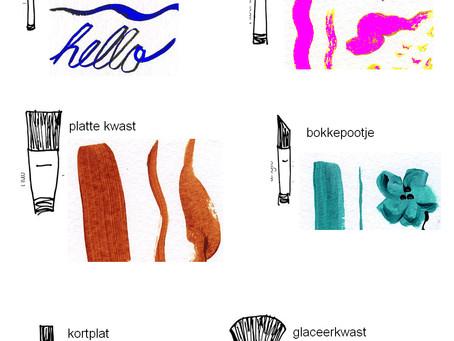 Alles wat je wilt weten over kwasten en penselen ( 1 en 2)