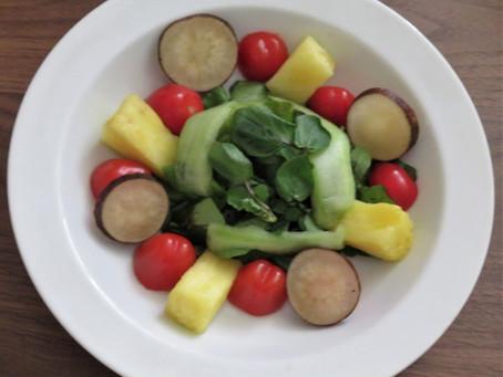Gezond gaat door de mond met  een salade met yacon.