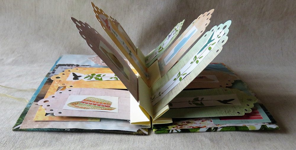 with a closed bow you can flip the pages as in any book