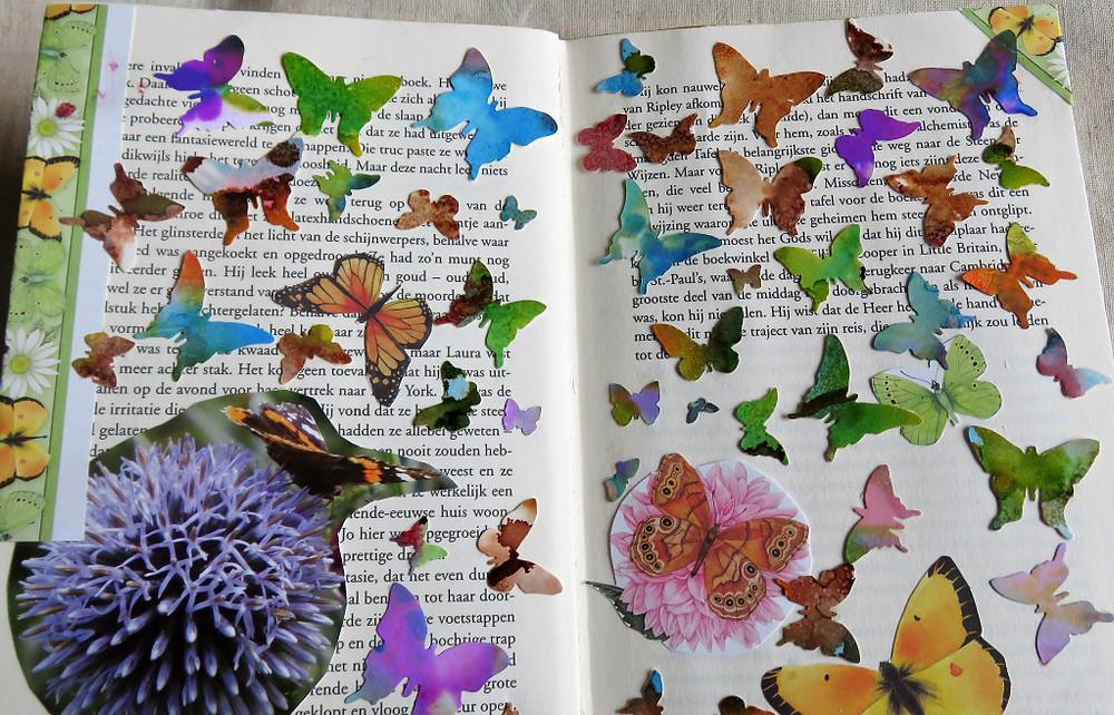 geknipte en gestanste vlinders