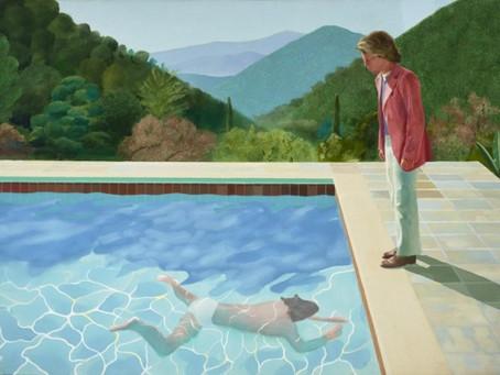 David Hockney and I.