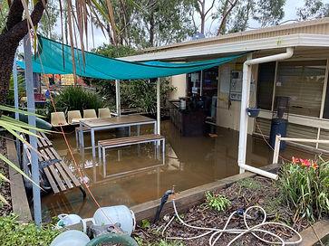 Flood Damage To Shed