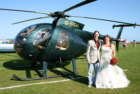 Helicopter at a wedding