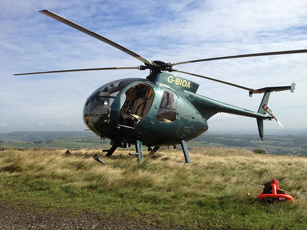 Helicopter G-BIOA on Dartmoor