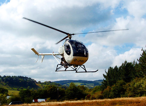 Helicopter in hover
