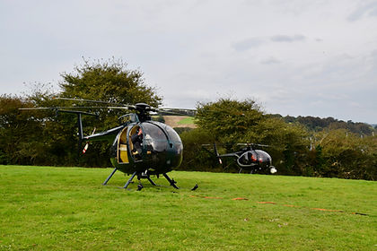 Filming helicopters