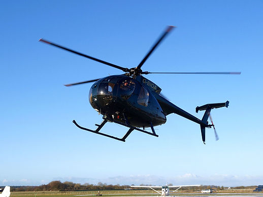 Hughes 500 training helicopter