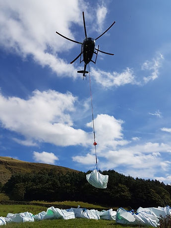 Helicopter and conservation loadlifting