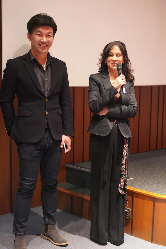 le producteur Franco Liu et l'actrice Maria Pitarresi
