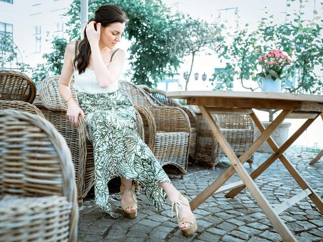 Sommerkleid mit Pailetten-Top