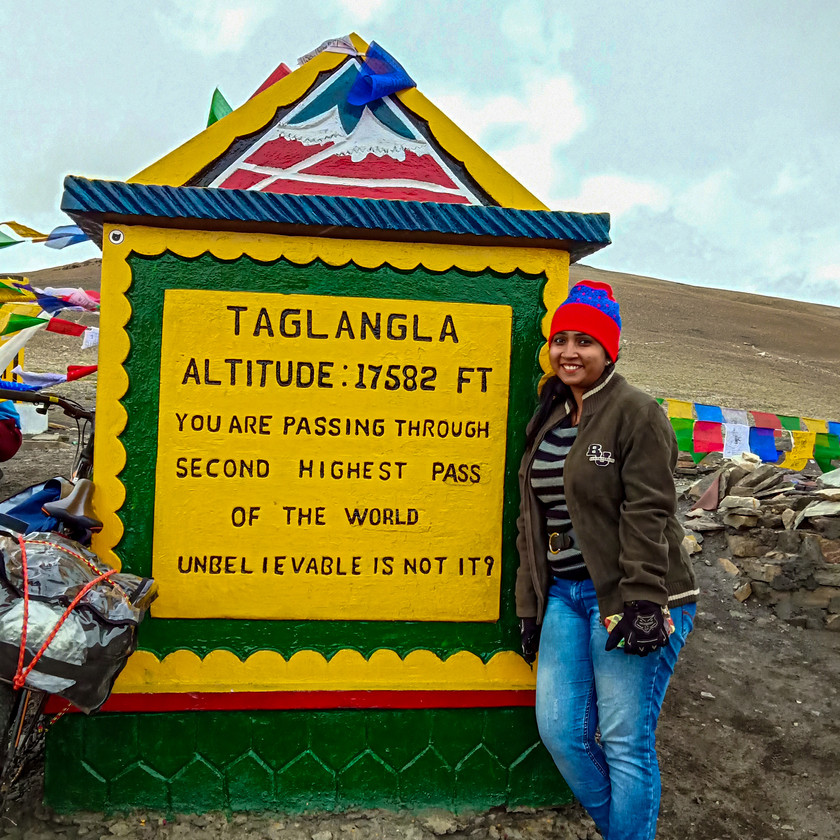 World's 3rd highest pass : Taglang La