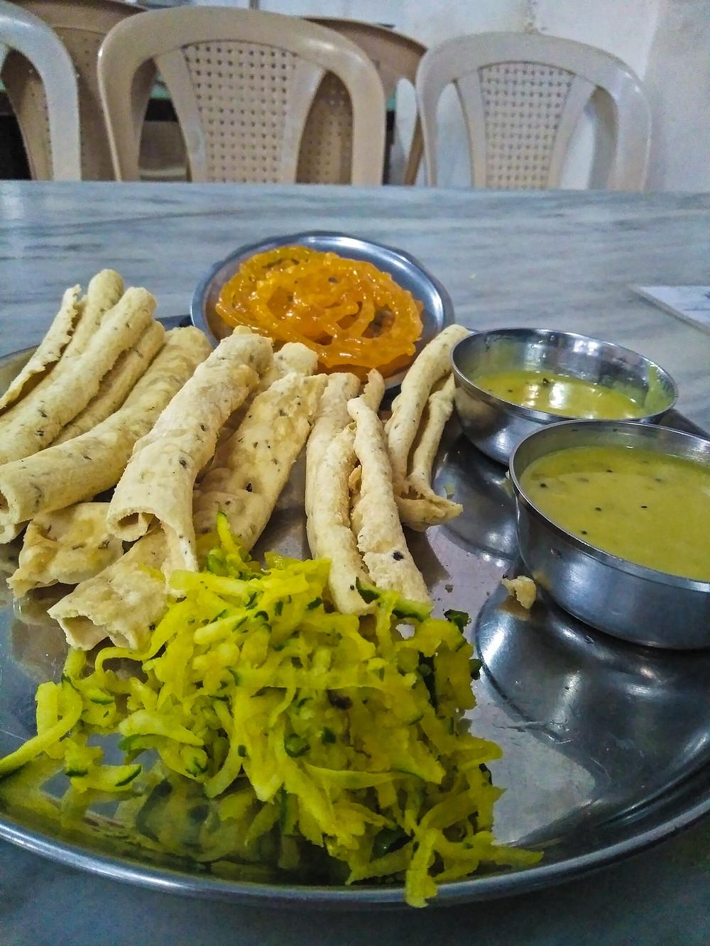 Jalebi fafda at Hotel Chandravilas
