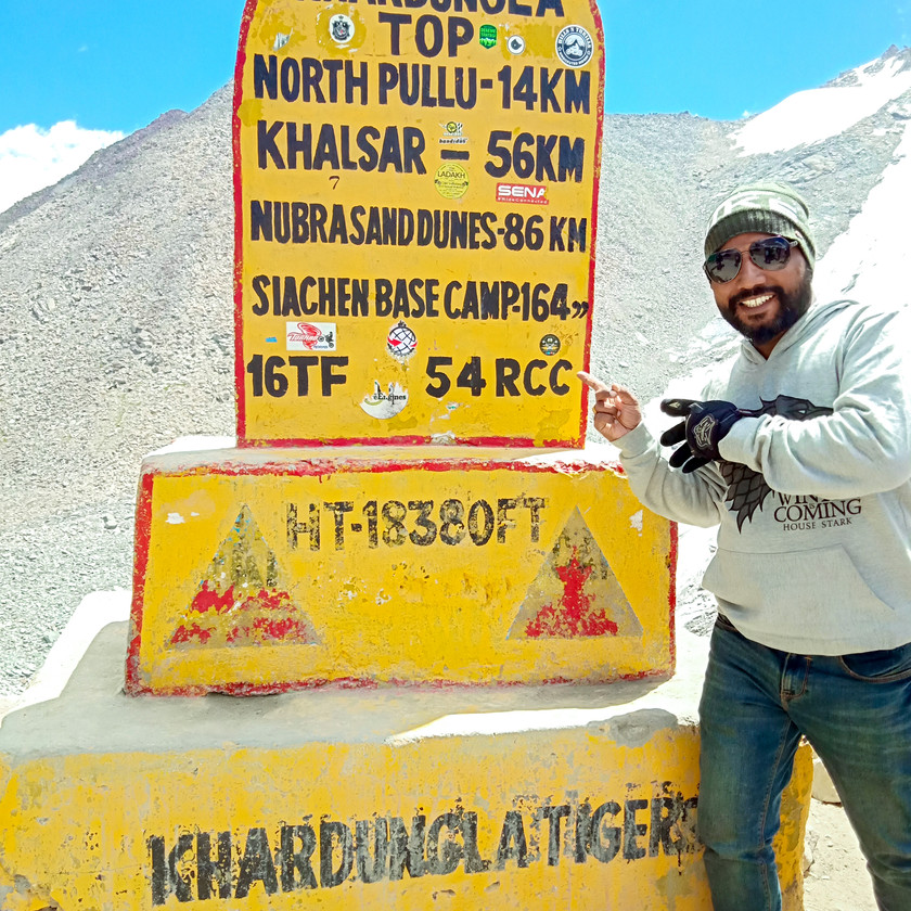 World's highest motorable road: Khardung La
