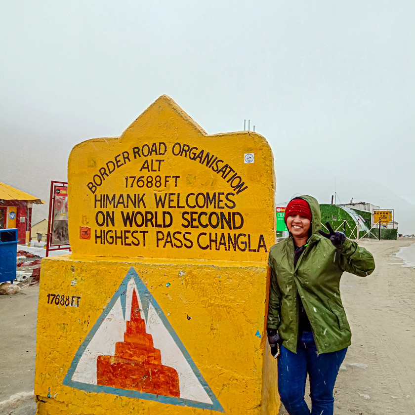 World's 2nd highest pass : Chang La