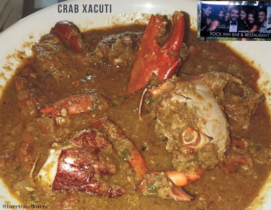Crab Xacuti at Rock Inn Divar island Goa