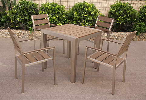 EDGE Outdoor Square Dining set of 5 pieces Made-To-Order EDGE戶外方餐桌椅5件套裝