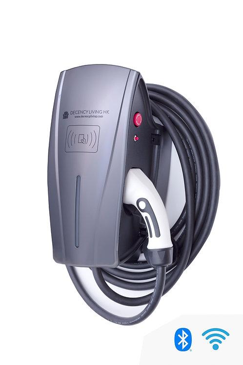 22KW EVSE tethered cable SMART version 掛牆中速充電器Type 2 線SMART款